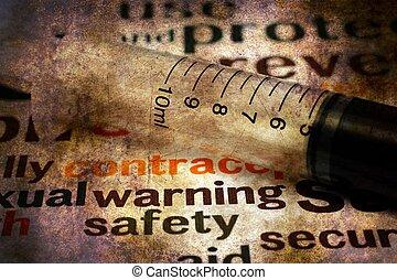 jeringuilla, y, seguridad, concepto