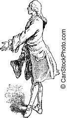 Jerkin, vintage engraving - Jerkin, garment worn by men...