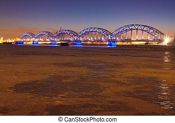 jernbane bro, nat hos