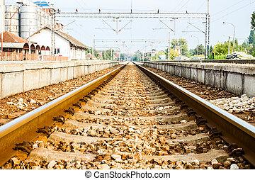 jernbane, rykke sammen
