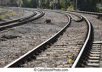 jernbane tracks, udsigter