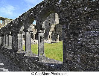 Jerpoint Abbey is ruined Cistercian abbey near Thomastown,...