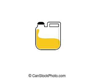 jerry cans Flat Icon on white background in vector illustration