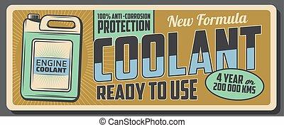 jerry, motor, can., service, bil, kylmedel, antifreeze