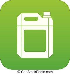 jerry, plástico, verde, lata, digital, icono