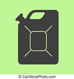 Jerrycan flat icon on background. Vector illustration. Isolated.