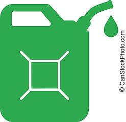 jerrycan, icono, verde