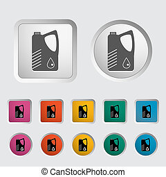 Jerrycan single icon. Vector illustration.