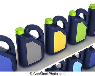 jerrycans, hajtómű olaj, autó, -, elszigetelt