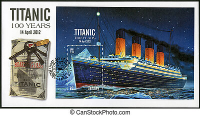 JERSEY - 2012: shows Titanic - 100 years - JERSEY - CIRCA...