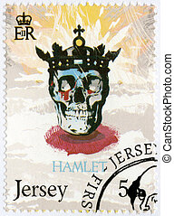 JERSEY - 2014: shows illustration from Hamlet, The 450th Anniver