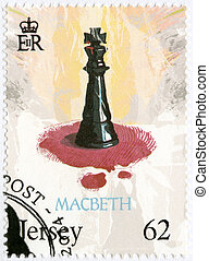 JERSEY - 2014: shows illustration from Macbeth, The 450th Annive