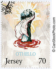 JERSEY - 2014: shows illustration from Othello, The 450th Annive