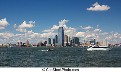 Jersey City Skyline from Harbor