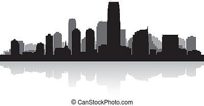 Jersey city skyline silhouette - Jersey city USA skyline...
