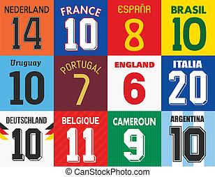 jersey football, numeri