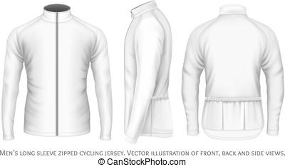 jersey, men., cyclisme, manche longue