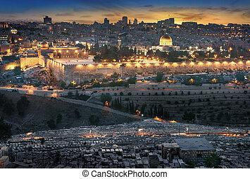 jerusalém, antigas, city., israel