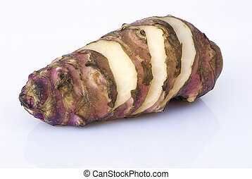 jerusalém, artichoker, raiz, (helianthus, tuberosus)