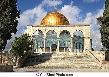 jerusalén, cúpula, mosque., israel., roca