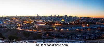 jerusalén, ciudad, israel, viejo, perspectiva general