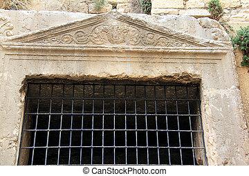 jerusalén, johoshaphat, israel, cueva