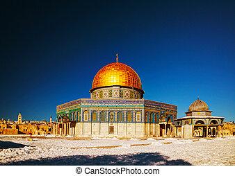jerusalén, mezquita, cúpula, roca