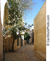 Tight jewish street of Jerusalem