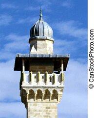 Jerusalem Al-Aqsa Mosque top of minaret 2012