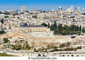 Jerusalem Al-Aqsa view from Mount of Olives