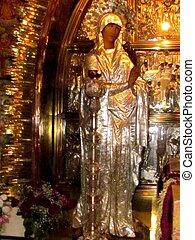 Jerusalem Holy Sepulcher Greek Orthodox altar 2012 - Greek...