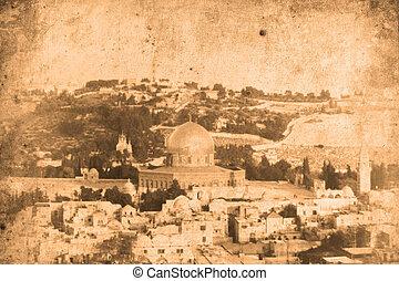 Jerusalem Israel - Retro look of the Orient - Jerusalem in...