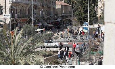 View of modern Jerusalem - Jerusalem , Israel - February 22...
