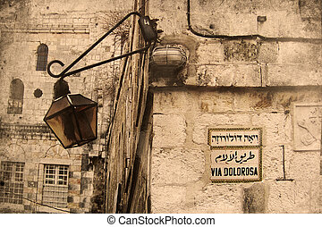 Jerusalem Israel - Retro look of the Orient - Jerusalem in...