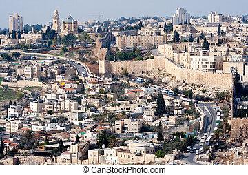 Jerusalem - Israel - View on the old city of Jerusalem