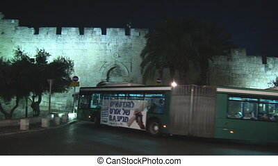 Jerusalem night - Jerusalem city bus