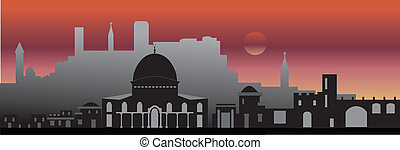 Jerusalem night - Jerusalem skyline
