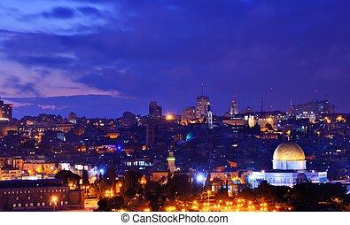 Jerusalem Old City Skyline