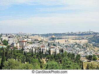 Jerusalem Old City - View of Jerusalem Old City from Haas...