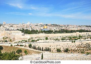 Jerusalem Old City - View of Jerusalem Old City from Mount...