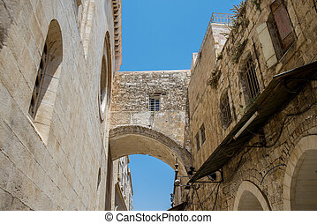 Jerusalem old city - the streets of the old city of...