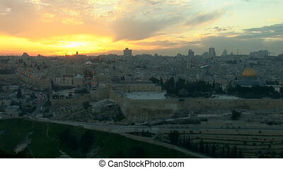 Jerusalem old sunset 1 - Jerusalem - sunset over the old...