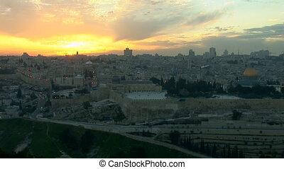 Jerusalem old sunset 1 - Jerusalem - sunset over the old...