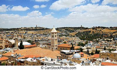 Jerusalem panoramic aerial view
