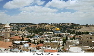 Jerusalem panoramic aerial view