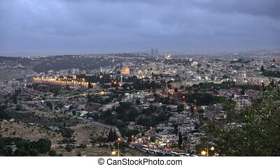 Jerusalem panoramic sunset view - Jerusalem panoramic sunset...