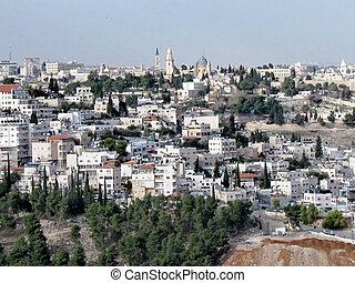 Jerusalem residential houses and churchs 2012 - View of ...