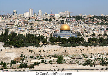 Jerusalem Skyline - Skyline of modern day city of Jerusalem,...
