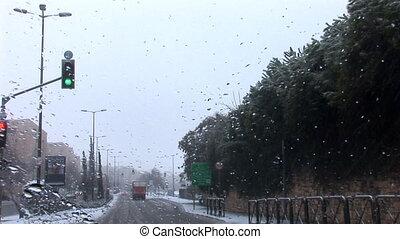 Jerusalem snow 2012 - snow in Jerusalem