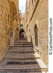 Jerusalem stairway street